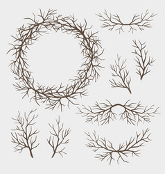 set of branches vector image vector image