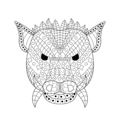 The head wild boar coloring for adults vector