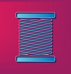 Thread sign blue 3d printed vector