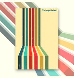 vintage stripes interior poster vector image vector image
