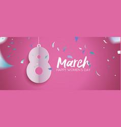 womens day 2018 fun celebration banner design vector image vector image