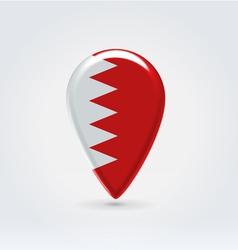 Bahrain icon point for map vector image