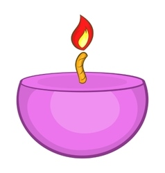 Pink urning candle ico cartoon style vector image