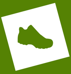 Boot sign white icon obtained as a result vector