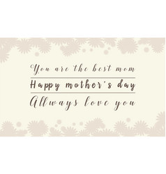 collection stock of mother day background vector image