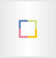 Colorful frame box icon symbol vector