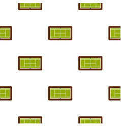 Tennis court pattern flat vector