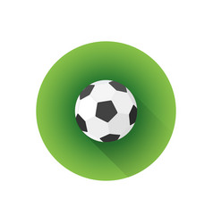 Flat color soccer ball vector