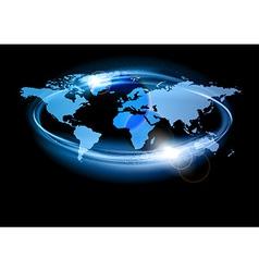 world abstract shine blue big vector image