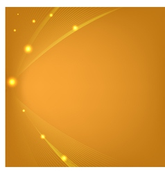 Abstract orange background with mesh and glows vector image