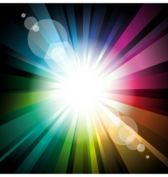 radiant background vector image