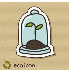 Eco concept on cardboard vector