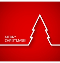 Creative modern Christmas tree with long shadow vector image