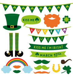 St patricks day design elements set vector