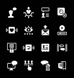 Set icons of social network vector