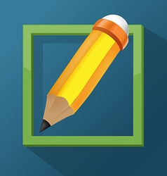 Pencil frame icon symbol design vector