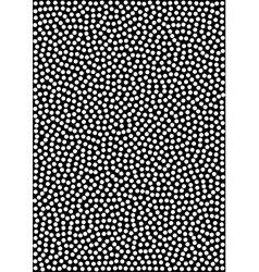 White Halftone Dots Pattern on black Background vector image