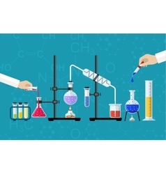 Medical laboratory desktop vector