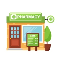 Pharmacy shop vector