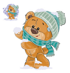 a brown teddy bear vector image