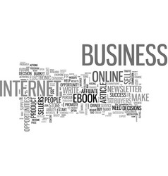 Are you in the right online business text word vector