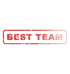 best team rubber stamp vector image