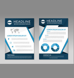 Business brochure flyer design template a4 size vector