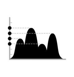 Business data graph chart analytics vector image vector image