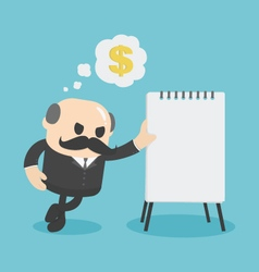 Businessman showing financial plan vector image