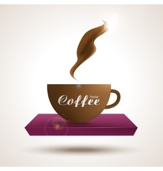 Coffee shop trendy background with coffee cup on vector image vector image