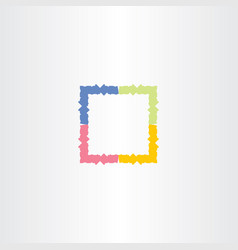 Colorful frame box icon symbol vector