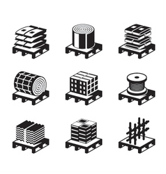 Construction and building materials vector image vector image