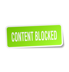 Content blocked square sticker on white vector