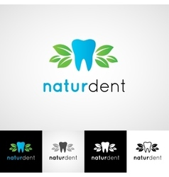 Creative dental logo template dentist clinic vector