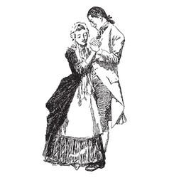 Dancing set of movements vintage engraving vector