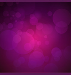 Dark violet background with glow and bokeh vector