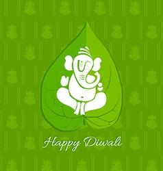 Diwali betel leaf background vector