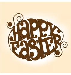 Easter symbol in the shape of an egg vector image vector image