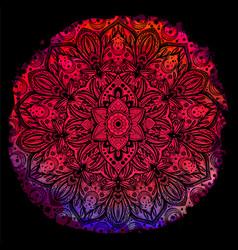 flower mandala vintage decorative element vector image vector image