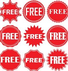 Free signs set free sticker set vector