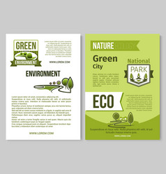 Green nature poster of eco environment vector