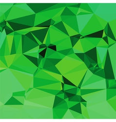 green polygonal background vector image