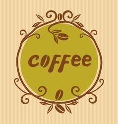Hand Drawn Coffee logo vector image vector image