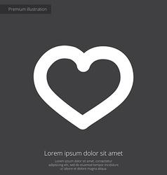 heart premium icon white on dark background vector image vector image