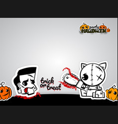 Helloween evil cat voodoo doll pop art comic vector