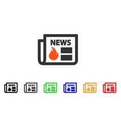 Hot news icon vector