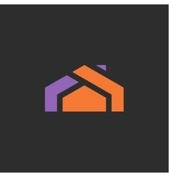 House logo icon abstract sign into flat style of vector image