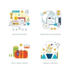 Investment strategy planning finance education vector image