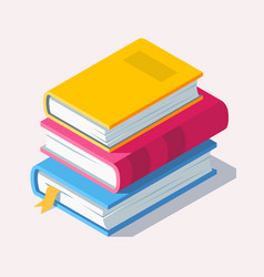 isometric book icon in flat style vector image vector image