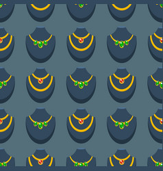 jewelry necklace background seamless pattern vector image vector image